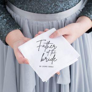 Gepersonaliseerde zakdoek ouders bruidspaar