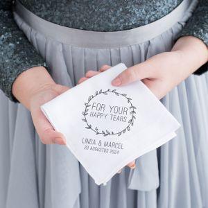 Gepersonaliseerde zakdoek met krans