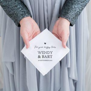 Gepersonaliseerde zakdoek lovely lettertypes
