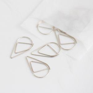 Druppel paperclip zilver (25st)