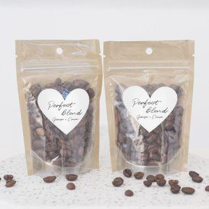 Zipperbag chique koffie etiket