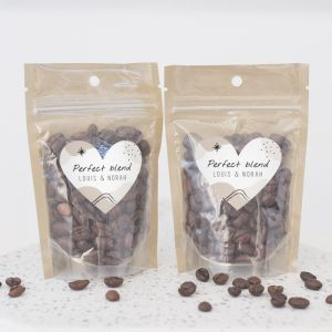 Zipperbag cosmic love koffie etiket