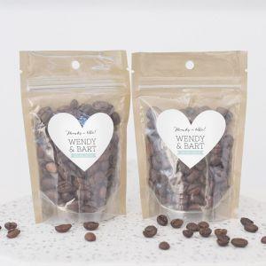 Zipperbag lovely lettertypes koffie etiket