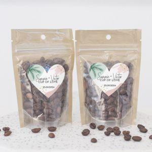 Zipperbag paradise love koffie etiket