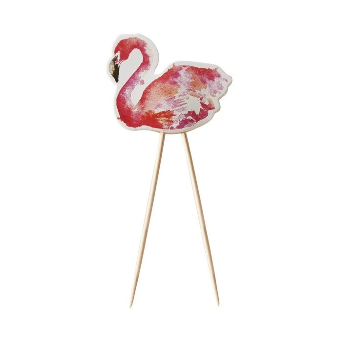 flamingo fun cupcake prikkers