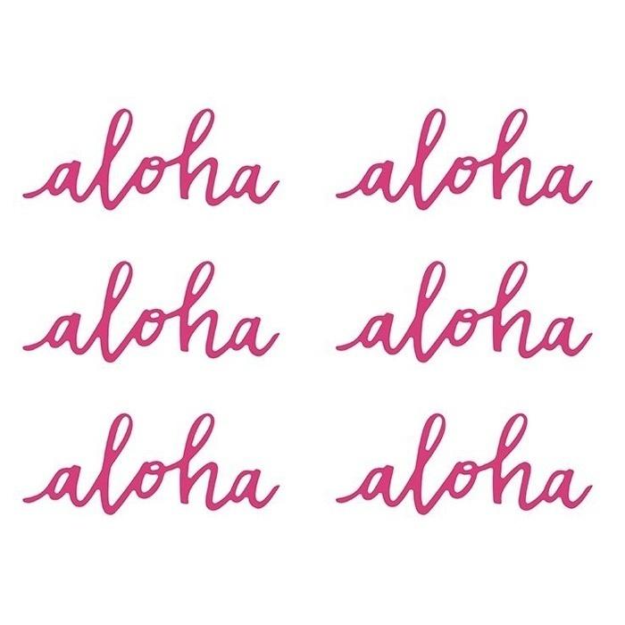 Decoratie aloha roze Aloha Collectie