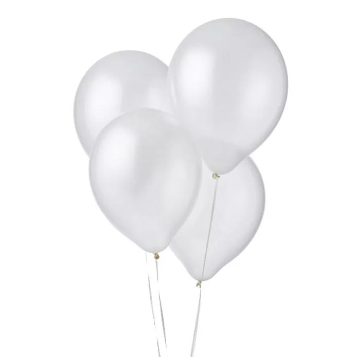 Ballonnen Metallic Wit