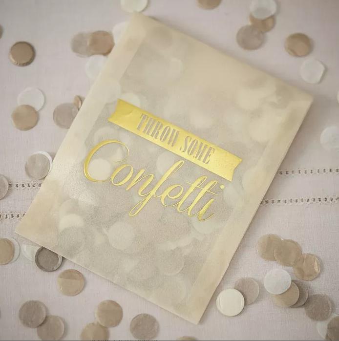 Confetti envelopje goud