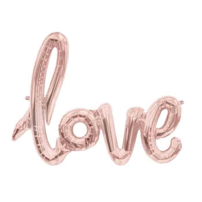 Folieballon Love Roségoud