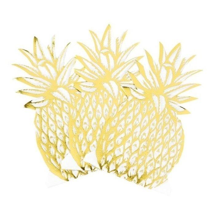 Modern Metallics ananas servetten