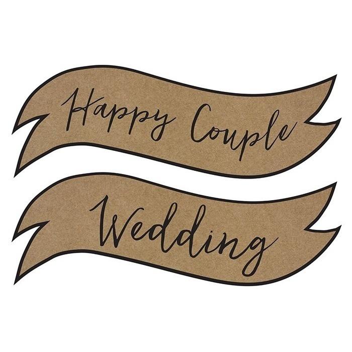 bordjes happy couple wedding