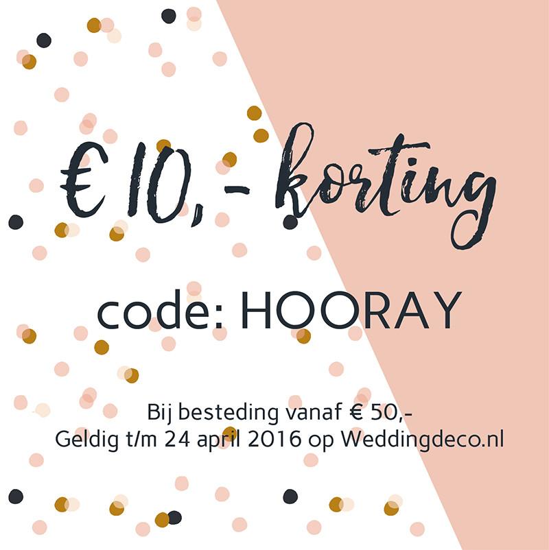 Weddingdeco.nl kortingscode