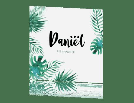 Plaatsnaamkaartje Tropical Leaves