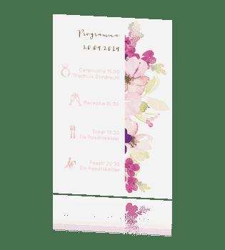 Programma kaart waterverf bloemen