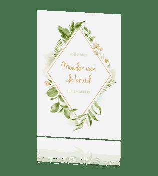 Plaatsnaamkaartje geometric floral