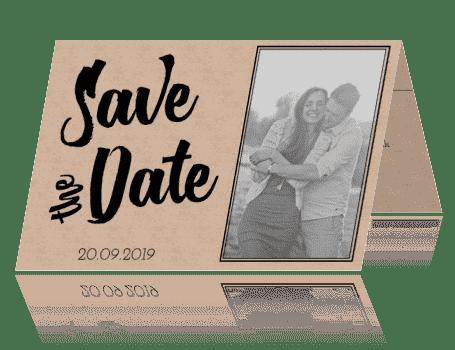 Save the Date kraft love