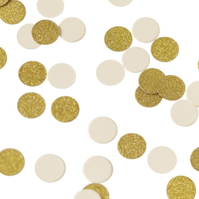 Tafelconfetti Ivoor-Goud Metallic Perfection