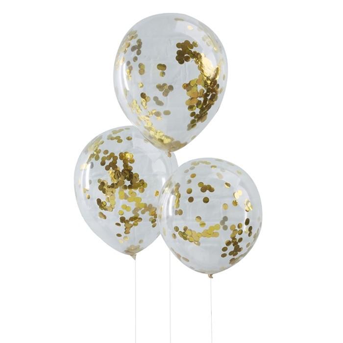 Confetti ballonnen goud Pick & Mix