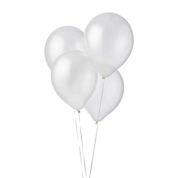 Metallic ballonnen wit