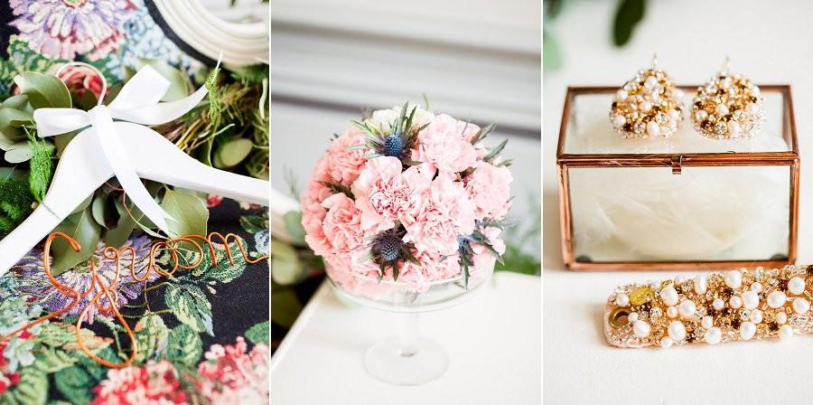 Inspiratie: chique carnaval bruiloft met goud & roze