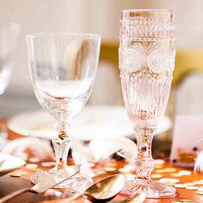Vintage Champagneglas blush