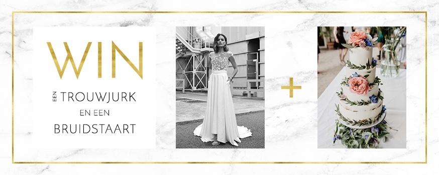 Win een trouwjurk & een bruidstaart!