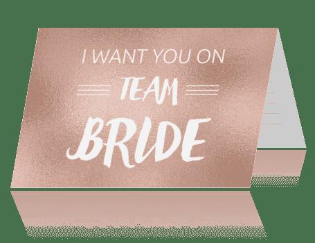 Team bride kaart roségoud