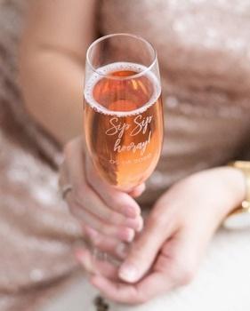 Gepersonaliseerd champagneglas
