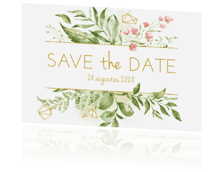Save the date Geometric Floral