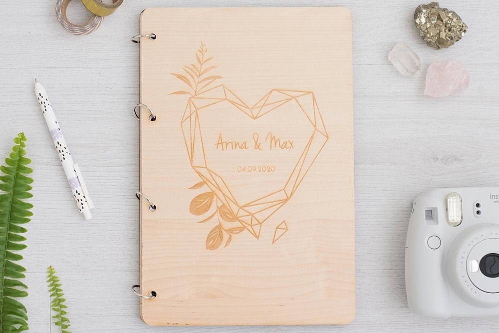 weddingdeco, trouwhuisstijl geometric floral, gastenboek bruiloft